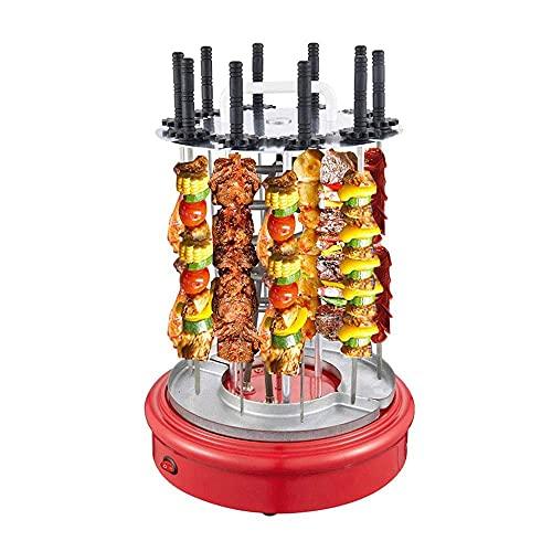 Horno de Parrilla asador de 1350 W - Parrilla Vertical giratoria - Parrilla eléctrica de encimera para Barbacoa - Máquina de brochetas con rotación automática sin Humo de 360 °, Puede Contener 12 c
