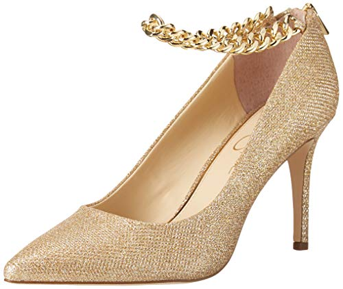 Jessica Simpson Womens Abrellia Pump, Cosmo Gold, 10 US