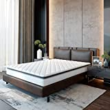 Classic Brands Serena Pillow Top Innerspring 10-Inch bed_mattress_conventional, California King, White
