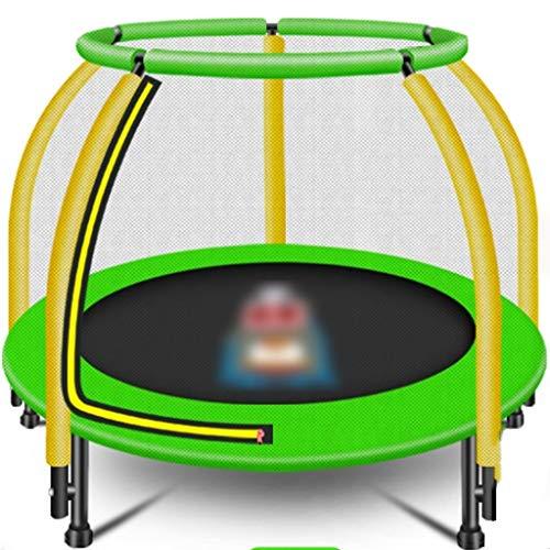 ZYCSKTL Gartentrampoline Kleiner Backboarder mit Netz für den Heimgebrauch, Indoor-Trampolin für Kinder, Gartentrampolin mit Ringarmlehne (Color : Green, Size : 122 * 126cm)