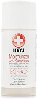 Keys KPRO 1-Step All Natural Tinted Moisturizer Lotion Foundation with Broad Spectrum SPF 30+ UVA UVB Sunscreen OptiFX Adaptive Color Technology, Vegan, Gluten Free, Chemical Free Beauty, 3.4 ounces