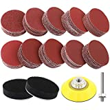 Coceca 180pcs 2 Inches Sanding Discs Pad Kit for Drill Sander, Drill Sanding Attachment Sandpapers with Backer Plate 1/4 Inch Shank