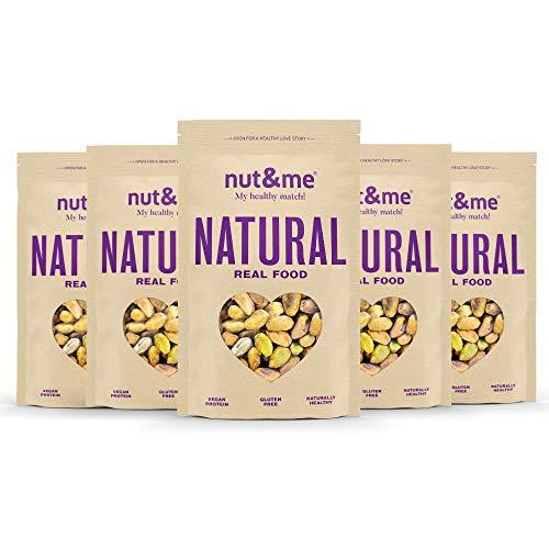Pistachos Naturales Sin Cáscara nut&me | Sin Sal | Sin Gluten | Frutos secos naturales | Vegano | Pack 5 unidades (200g/unidad)