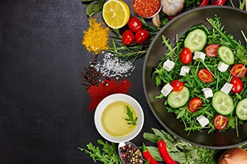 Impresión en lienzo Granos Especias Sartén Cocina Verduras Fruta Lienzo Pintura Carteles e impresiones Arte de la pared Imagen Sala de estar Deoration 70x100cm Sin marco