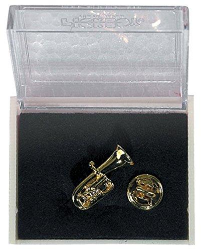 GEWA 980041 Unisex-Brosche Anstecknadel Tuba, goldfarbig