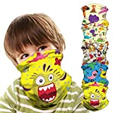 5 Pieces Children Kids Multifunctional Headwear Bandana Face Cover_Mask,Headband Scarf Neck Gaiter,UV/Dust Protection Reusable Washable Stretchy Breathable Balaclava for Outdoor Activities School