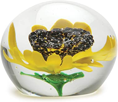 Sunflower Glass Paperweight