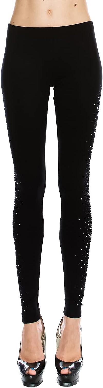 Vocal Women's Apparel Leggings w/Studs & Bling Down The Side of Legs