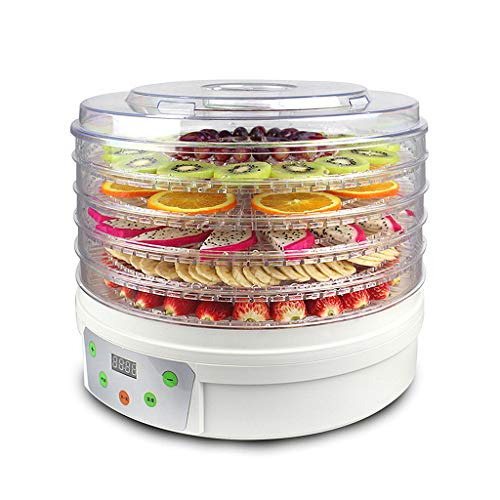 Review Of Food Dehydrator Machine Food Dryer for Beef Jerky, Fruits, Vegetables, Dog Treats, Herbs, Digital Temperature and Timer of Hours with 5 BPA Free Trays, Transparent Door