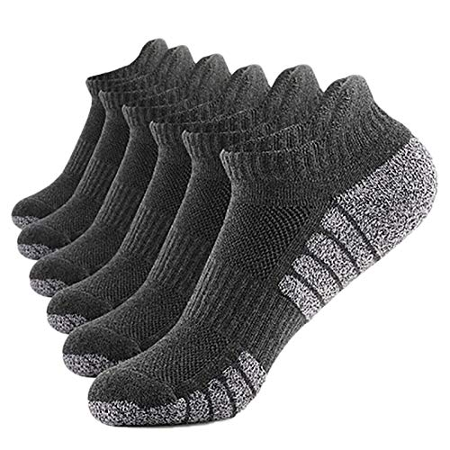 GEU Men and Women Pack of 5 or 6 or 10 Pairs Classic Business Socks Dress Socks Casual Athletic Anti-Slip Sports Short Breathable Cotton Socks