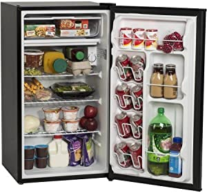 2L Bottle Storage and Can Dispenser   Arctic King 3.3 cu ft One-Door Compact Refrigerator, Black