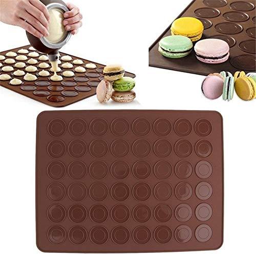 zxz Macaron Backform, Kuchenmatte, lebensmittelechtes Silikon Antihaft-Oberflächenkreis Einkerbungen Design undurchlässig, für Küchengeburtstag