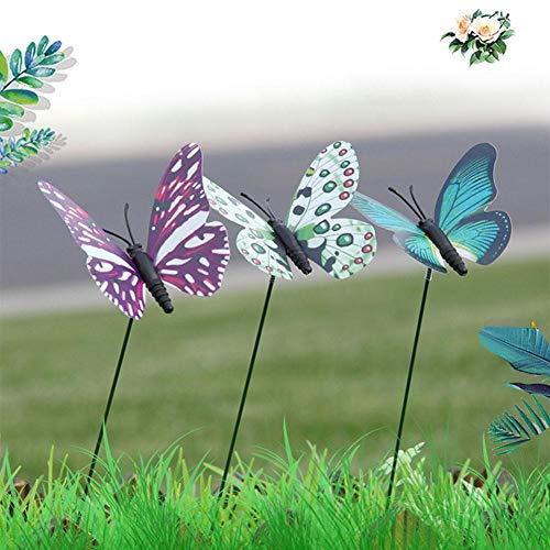 Ecisi Mariposas De Jardín Y Decoración de jardín Estacas de jardín Jardín...