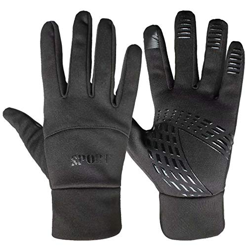 HOLIIBN Winter Warm Gloves, Thermal Touchscreen Gloves Lightweight Cold Weather Cycling Gloves Windproof Winter Sports Gloves for Running, Biking, Driving, Climbing, Hiking - Men & Women