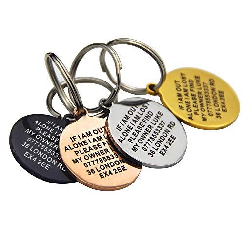 Personalisierbares Namensschild für das Halsband für Haustiere von PaddingPaws, mit Gravur, für Hunde, Katzen, Welpen