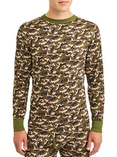 Hanes Men's Waffle Knit Thermal Crew Neck Long Sleeve T-Shirt FreshIQ, Camo, XX-Large