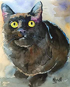 """Black Cat Art Print 