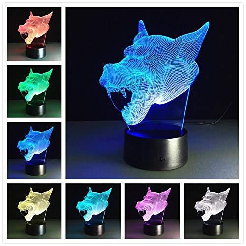 Bunte 3D USB Schreibtisch Tischstempel LED Nachtlicht für Kinderzimmer Dekoration großes Geschenk für Kinder LED Deer Cartoon Wild Animal Sea Fish