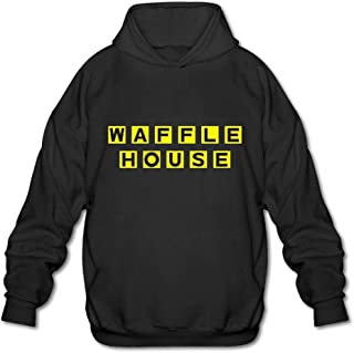 Men's Casual Waffle House Tee T Shirt Short Sleeve O-Neck Cotton T-Shirt Sports Tops Tshirt Pull-Over Hoodie Sweatshirt