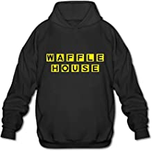 Men's Casual Waffle House Tee T Shirt Short Sleeve O-Neck Cotton T-Shirt Sports Tops Tshirt Pull-Over Hoodie Sweatshirt
