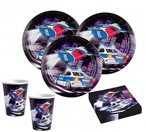 52 piezas con diseño de policía de diseño de fiesta de la decoración de Juego de accesorios para los niños 16