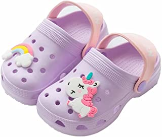 Sponsored Ad - PCBSGQLz Unicorn Cartoon Children's Classic Wooden Cartoon, Light Garden Shoes, Sandals, Beach Swimming Poo...