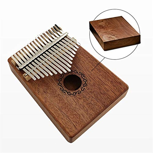 Kalimba, Daumenklavier 17 Keys Kalimba Daumen Finger Klavier Praktische Holz Mahagoni Korpus Musikinstrument mit Lernbuch Instrumente for Anfänger (Color : Dark brown)
