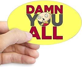 CafePress Family Guy Damn You All Oval Bumper Sticker, Euro Oval Car Decal