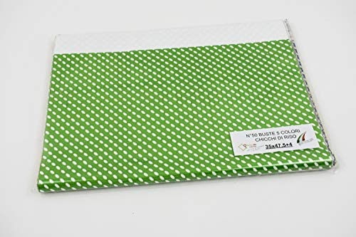 Sobres de regalo en paquetes surtidos – Varios colores, tamaños y cantidades con o sin cinta adhesiva (Multicolor, granos de arroz, 35 x 47,5 + 4 unidades 50)