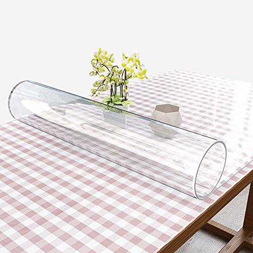 HM&DX Transparent PVC Tabelle beschützer Wasserdicht Abwaschbar Hitzebeständig Kein schrumpfen 1.5mm dicken Weichplastik Tischdecken Abdeckung tischmatte Für wohnküche-Klar 60x120cm(24x47inch)