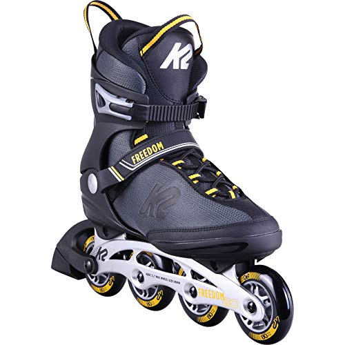 K2 Skates Herren Inline Skates FREEDOM M — black - yellow — EU: 43.5 (UK: 9 / US: 10) — 30D0252