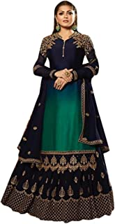 Blue Skirt Lehenga & Churidar Combo Style Ready to wear Party & Festival Muslim Punjabi Salwar Suit 8651 (14)