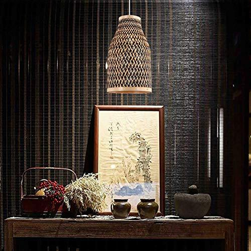 CSD Creativa del estilo chino de bambú de la lámpara Sala Comedor lámpara del café lámpara de la linterna del té de la iluminación ambiental 110-240