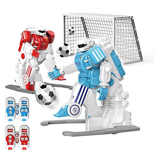 FLYZOE Remote Control Robot Intelligent Programming Football Robot Fun Sport Ball Games RC Robot for Kids Robot