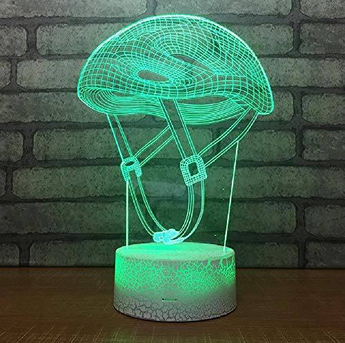 Creativo LED atmósfera 3D lámpara de escritorio acrílico USB lámparas de mesa para sala de estar cabecera lámpara decorativa para dormitorio de los niños