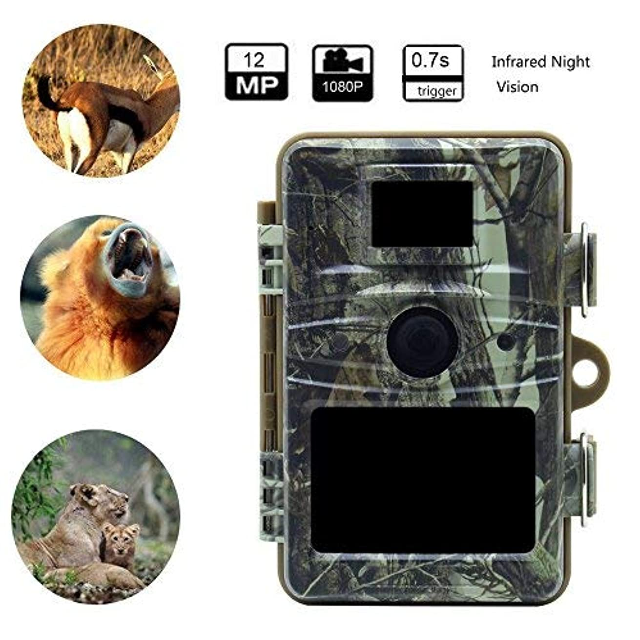 MDTEK@16GB SD Card+ Trail Game Camera RD1005,Hunting Trail Camera Trap 12MP Wildlife Game Cameras HD Night Vision Waterproof IP66 Hunter Trail Camera