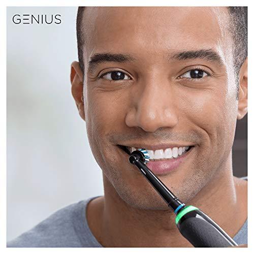Oral-B Genius 10000N Spazzolino Elettrico Ricaricabile con 1 Manico Nero Notte, 6 Modalità tra cui Sbiancante e Denti Sensibili, 2 Testine di Ricambio, 1 Custodia da Viaggio Smart, idea Regalo Natale