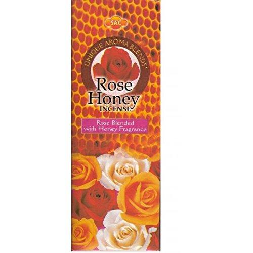 Incienso SAC Rosa y Miel - Set de 6 paquetes hexagonales