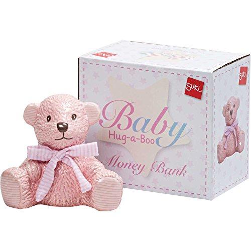 Suki Gifts International Ltd Hab Teddy Tirelire Rose, Rose Clair