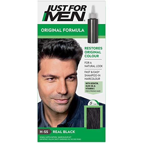 Just for Men - H55 - Haarfärbemittel, Pflege Tönungs Shampoo, Schwarz