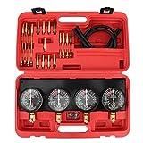 Terisass Kit de Herramientas de Ajuste de carburador de vacío de Combustible Juego de medidores de vacío Herramienta de 4 Cilindros a Prueba de Golpes