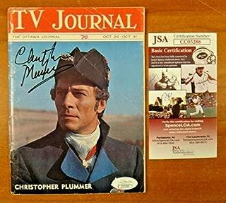 Christopher Plummer Autographed Signed Memorabilia Tv Journal With JSA COA