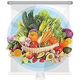 MAHFEI Tenda A Rullo in Plastica Trasparente Pet, con Maniglia di Traino per Negozi di Frutta E Verdura, Gastronomia, Congelatore del Supermercato Conservazione Fresca A Prova di Polvere