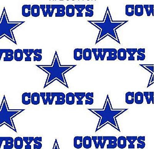Cowboys White Cotton Fabric