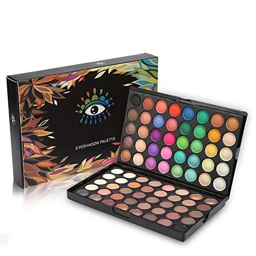 Kit de maquillage de palette de fard à paupières, palette de couleurs de poudre de maquillage de paillettes de 80 couleurs - palette de maquillage professionnel de maquillage pour les yeux