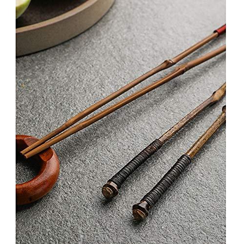 Lichtgewicht krultang, van hout, lengte 22 cm, chopsticks voor thuis, creatief, bamboe, natuurlijke chopsticks B