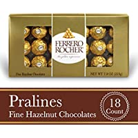 18-Count Ferrero Rocher Fine Hazelnut Milk Chocolate, 7.9 Oz