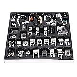 Atyhao 35 Unids/Set Máquina de Coser doméstica Kit de pies de prensatelas Juego de Herramientas multifuncionales de pie prensatelas Accesorio para Uso doméstico