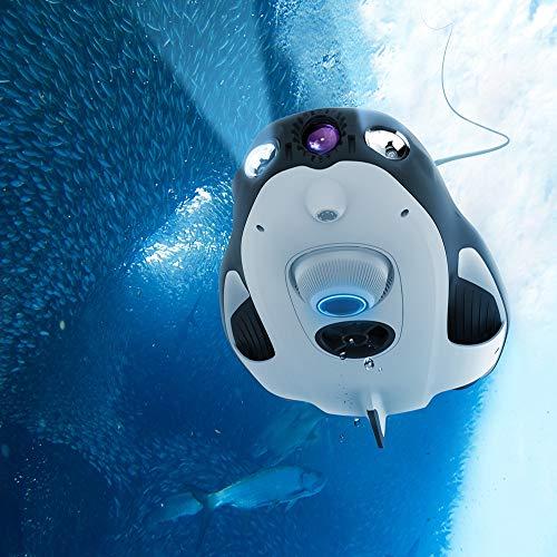 YAOHM PowerRay Explorer ROV Drone Submarino Cámara de Pesca Marina Drone 1080p Drone de Pesca RC Wizard Dron Diving Boating
