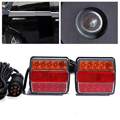 Universal LED Rückleuchten,12V 7 Polig Anhänger Beleuchtung Links rechts Rücklicht für Lkw Wohnwagen Van oder Motorrad 2 Stück